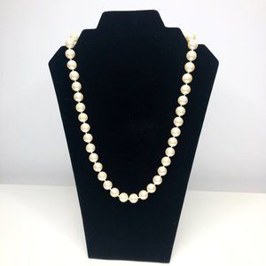Vintage Faux Pearl Large Bead Necklace